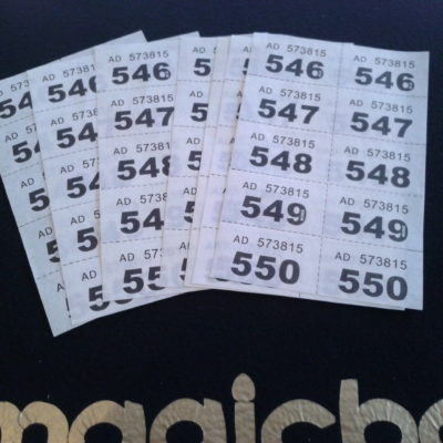 Flash Raffle Tickets (Pack of 100)-3539